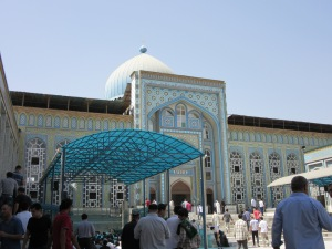 The courtyard of the Mosque.