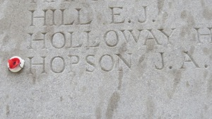 Great Uncle Joseph Hopson. I added my own tiny poppy.