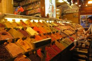 A stall in the Spice market.