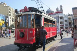 They have trolley cars here, just like San Francisco.