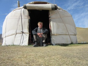 Outside my yurt.