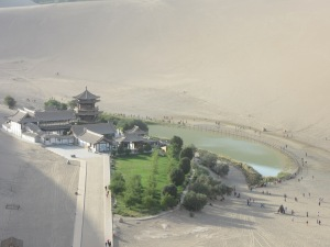 Crescent Lake or Yueyaquan in Chinese, Dunhuang.