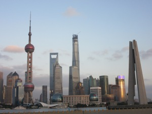 Pudong waterfront from the Bund.