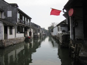 A tranquil part of the water village. Unlike the rest of it.