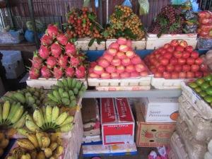 Colorful market scene.
