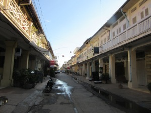 Sleepy downtown Battambang.