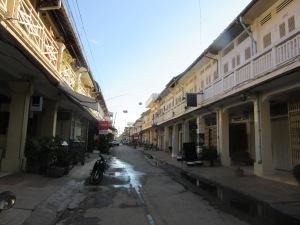 Sleepy downtown Battambang.