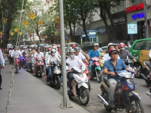 Traffic. Saigon.