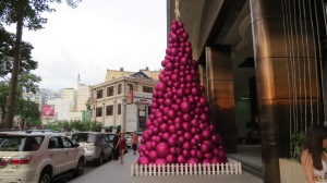 A Christmas Tree in Saigon. Just a little over the top.