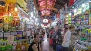 Shopping at the Main Market. Saigon.