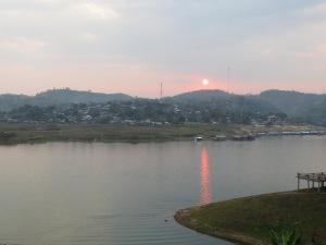 Sunset. Sangkhlaburi.