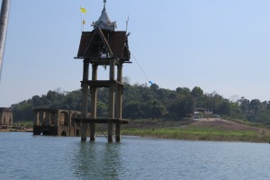 The sad sunken temples of Sanghkhlaburi.