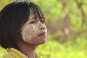 The local people have these swirls on their faces which act as sunscreen. Unique amongst indigenous peoples.