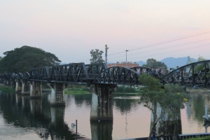 The Bridge on the River Kwai, from the river bank.