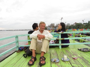 Tea on the boat.