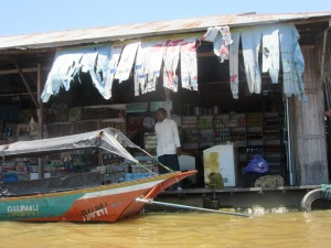 Floating village shop.