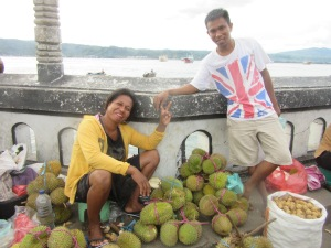 Patriotic durian sellers!