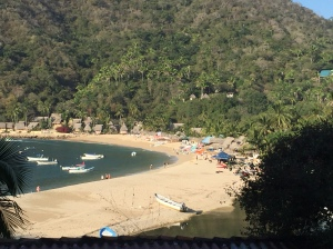 Here is the beach at Yelapa.
