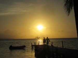 Sunset in the San Blas Islands.