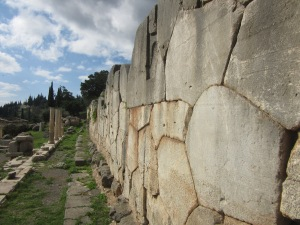 Massive wall at Delphi.