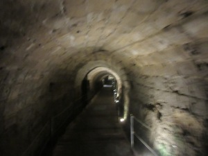 The Crusader tunnel that runs from the port into the city. A bit spooky.